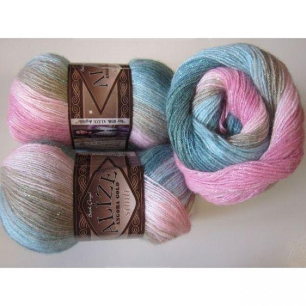 2970 лиловый, розовый, серый, голубой