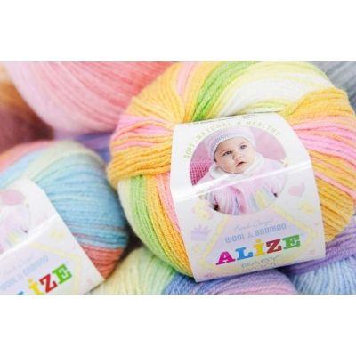 Baby Wool Batik (шерсть 40%, бамбук 20%, акрил 40%) (50гр. 175м.)