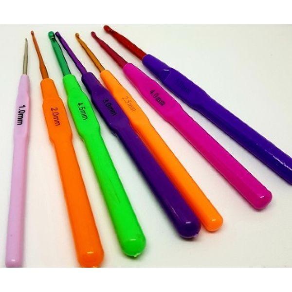 Крючки металлические с пластиковой ручкой