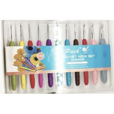 Набор Крючков с Пластиковой Ручкой 11 штук