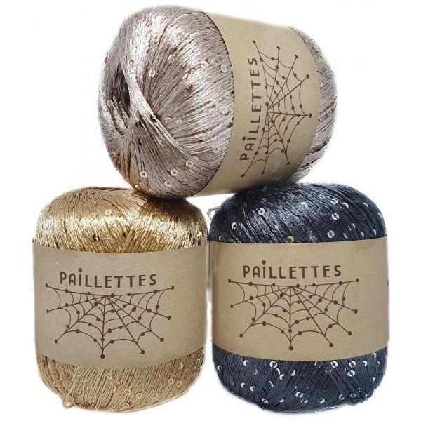 Paillettes Wool Sea
