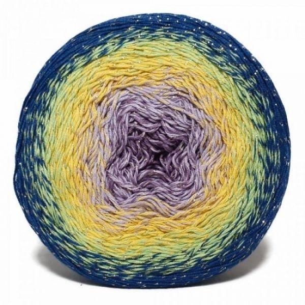 3257 синий, салатовый, жёлтый, сирень