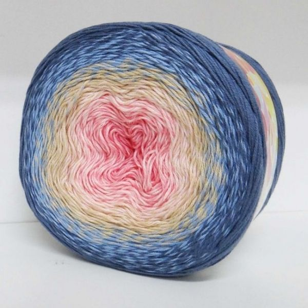 262 белый, коралловый, розовый, тёмно-голубой