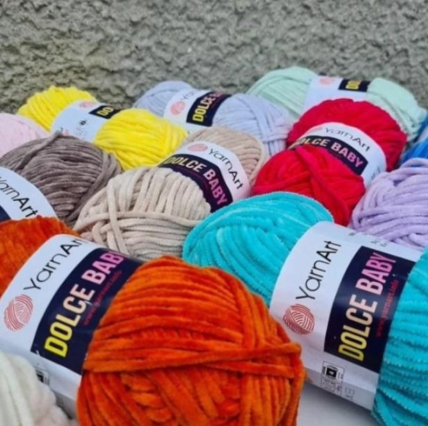плюшевая пряжа для вязания руками